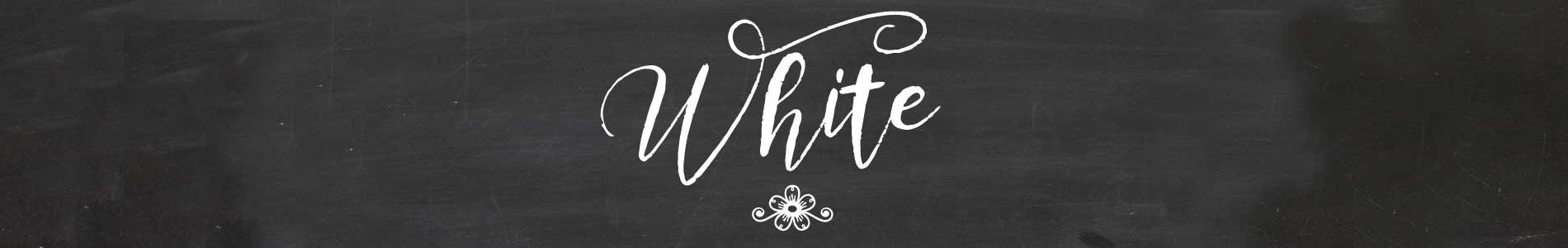 white header
